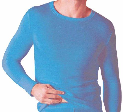 Soacks Uwear Sous-vêtement thermique à manches longues pour homme, hiver M bleu