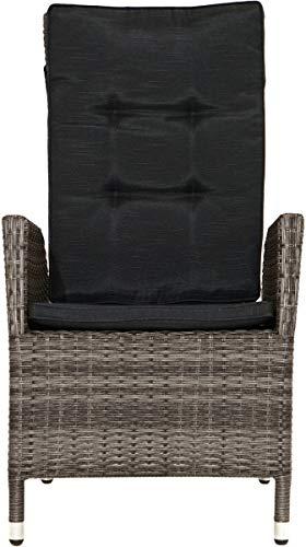 Plob 7215563 schommelstoel, gestippeld grijs-bruin, 68x60x111 cm