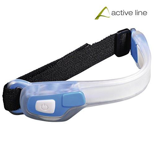 Hama Active Line, Taschenlampe LED Sportarmband Unisex–Erwachsene, blau, Einheitsgröße