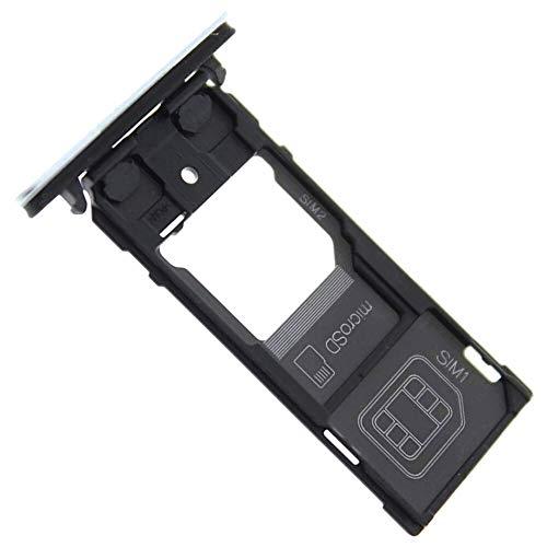 Xperia XZ2 Compact Dual SIM (H8324) Simkartenhalter und Micro-SD Card Fach, Original Ersatzteil, Silberfarben