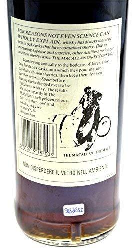 Rareza: The Macallan Whisky año 1977, 18 años, embotellado 1995, 0.7l original embotellado con papel de regalo