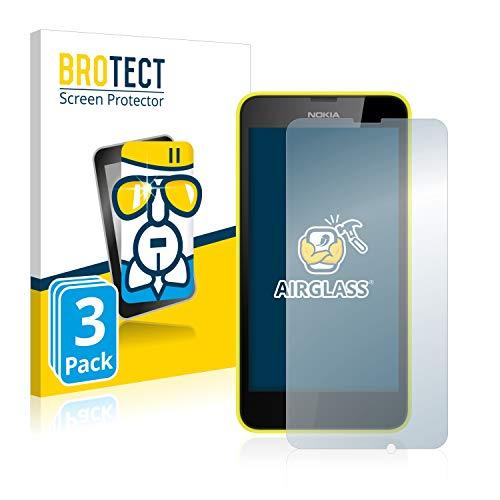BROTECT Panzerglas Schutzfolie kompatibel mit Nokia Lumia 635 (3 Stück) - AirGlass, extrem Kratzfest, Anti-Fingerprint, Ultra-transparent
