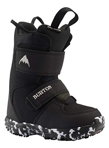 Burton Mini Grom - Botas de Snowboard para niño, 7C, Color Negro