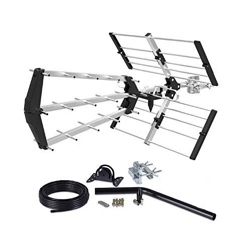 Digital TV Aerial KIT 48 Element Tri Boom HD Freeview loft/Outdoor Aerial Antenna 4G