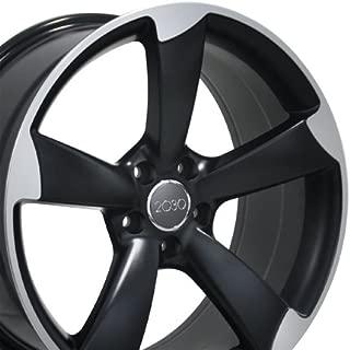 OE Wheels 19 Inch Fits Volkswagen CC Beetle Audi A3 A8 A4 A5 A6 TT RS6 Style AU29 19x8.5 Rims Satin Black Machined SET