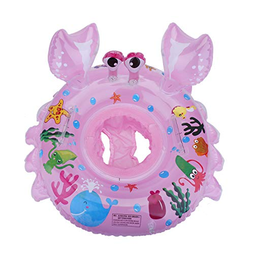EKKONG Baby Schwimmring, Baby Schwimmen Ring, Baby Schwimmhilfe, Baby Schwimmhilfen mit Schwimmsitz PVC für Kleinkind 6 Monate bis 48 Monate (Rosa
