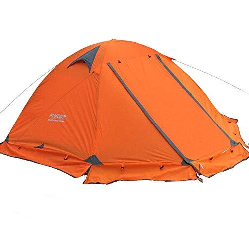Tente de Camping étanche et légère avec Deux Portes pour 2 Personnes (Couleur: Orange)