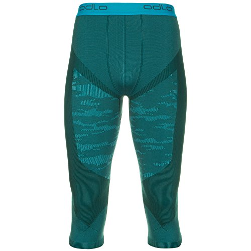Odlo Blackcomb Evolution Warm caleçon 3/5 Homme M Verde (Verde Turchese)