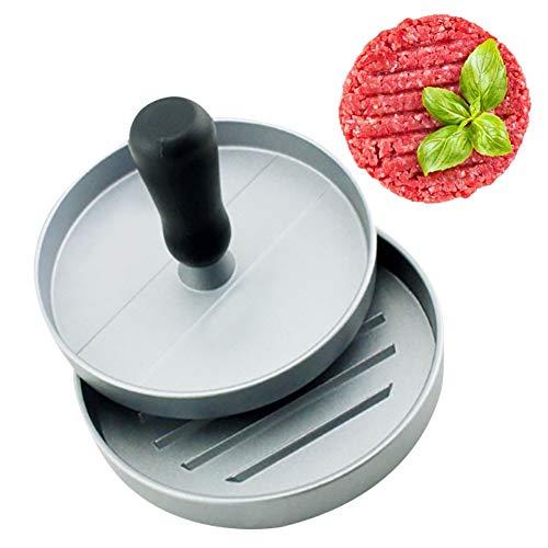 YFOX Máquina para hacer pasta de carne de hamburguesa de aluminio con revestimiento antiadherente seguro para alimentos, perfecta para hacer pasta de carne