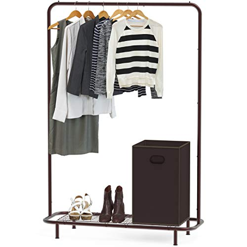 Simple Houseware Industrial Pipe Clothing Garment Rack with...
