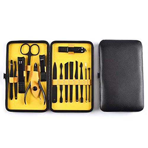 18pcs nail manucure set kits clipper kit all for manucure set man nails tool nipper cutter scissors tweezers nail art trimmer