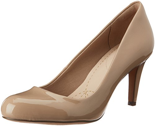 Clarks Carlita Cove Damen Pumps, Beige (Sand Patent), 39.5 EU (6 Damen UK)