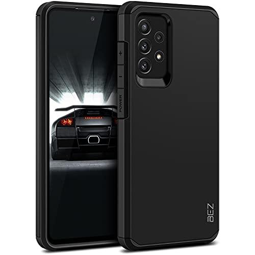 BEZ Cover Samsung A72, Custodia per Samsung Galaxy A72 5G Rigida Protettiva con Impact [Antiurto, Assorbimento-Urto] Bumper Protezione da Cadute e Urti Posteriore, Nero