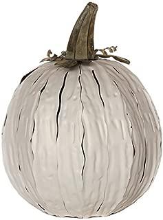 Desert Steel White Squatty Pumpkin Lantern – Handcrafted Luminary