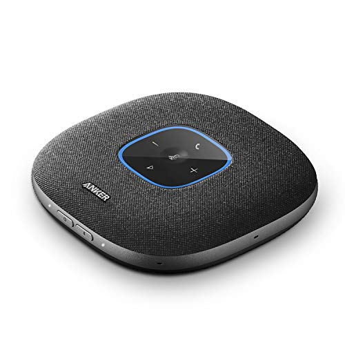 Anker PowerConf S3 Bluetooth Speakerphone with 6 Mics, Enhanced Voice Pickup, 24H Call Time, App Control, Bluetooth 5, USB C, Conference Speaker Compatible with Leading Platforms, Home Office