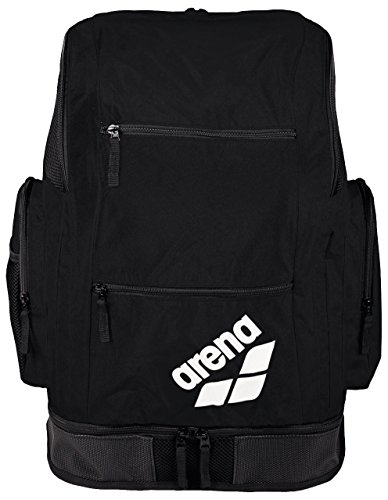 Arena Spiky 2 Large Backpack, Zaino Nuoto da 40 Litri Unisex Adulto, Nero (Black Team), Taglia Unica