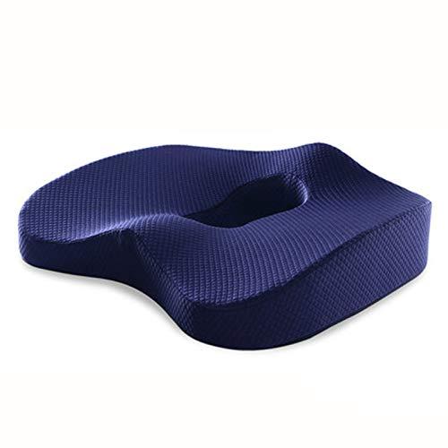 Almohada trasera de cojín Cojines del asiento de espuma de memoria - Amortiguador de asiento almohada ortopédica coxis Silla de oficina Cojín de asiento de la cadera caderas en silla de ruedas Masaje