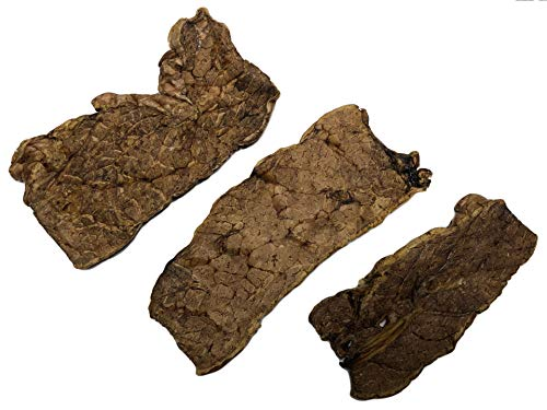 K9 Connoisseur Low to Odor Free Slow Roasted Beef Lung Dog Treat Steaks Made in USA Rawhide Free Natural Dog Treats for Large Dogs Aggressive Chewers Also The Best for Medium & Small Breed Dogs 3 Pk