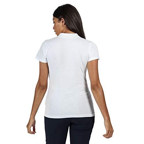 Regatta Women's Sinton' Coolweave Cotton Active T-Shirts/Polos/Vests, White, 14