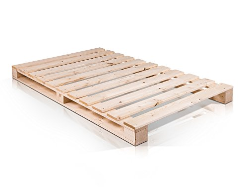 Palettenbett PALETTI Massivholzbett von Möbel Eins   90 - 180 x 200 cm