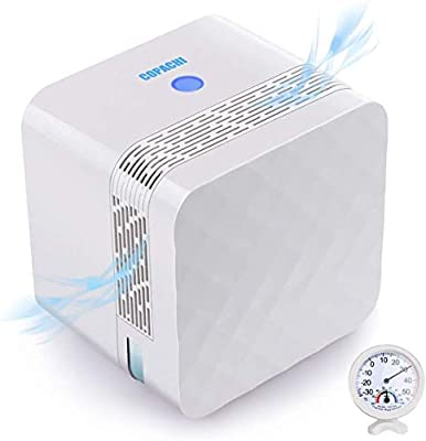 PERSARBO Small Dehumidifier for Basement Bathroom Bedroom Closet RV, Portable Dehumidifier for 2100 Cubic Feet (260 sq ft), Mini Air Dehumidifier with Thermometer Hygrometer from
