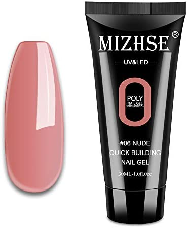 MIZHSE Poly Nail Extension Gel Nude Color Builder Gel Professional Enhancement Nail Thickening product image