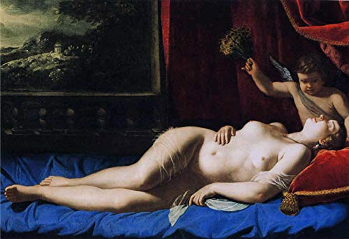 "Artemisia Gentileschi Venus and Cupid 1630 Virginia Museum of Fine Arts 30"" x 21"" Fine Art Giclee Canvas Print (Unframed) Reproduction"