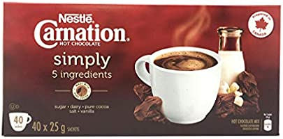 Nestle Carnation Hot Chocolate | Family Pack | 40 x 25g Pouches