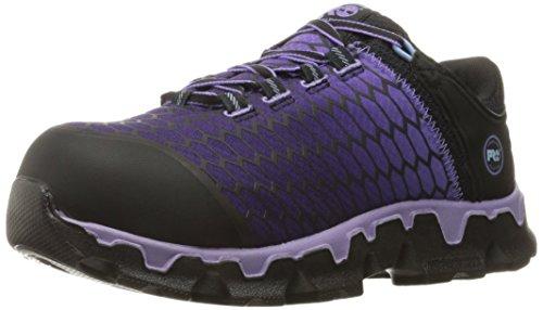 Timberland PRO Women's Powertrain Sport Alloy Toe SD+ Industrial & Construction Shoe, Black Synthetic/Lavender, 9 Wide