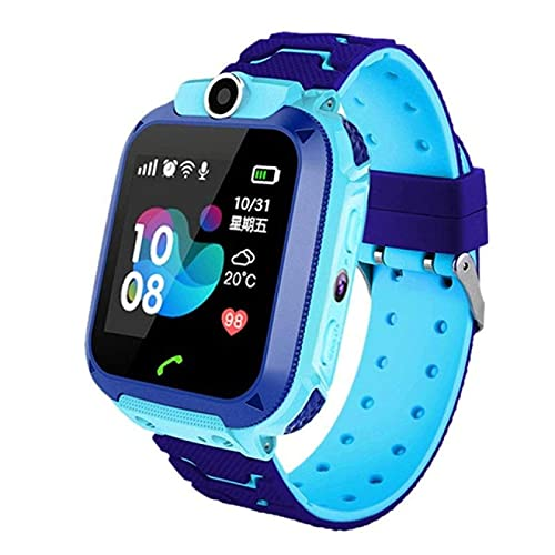 LITINGT Reloj inteligente, rastreador de fitness, nuevo en 2021, impermeable, con saturación de oxígeno, llamada Bluetooth, podómetro masculino y femenino para niños, correa extraíble (azul)