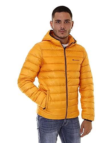 Champion Men Winter Jacket Hooded Jacket 214869, Color:Orange (abz)/Allover/Orange (abz), Talla:M
