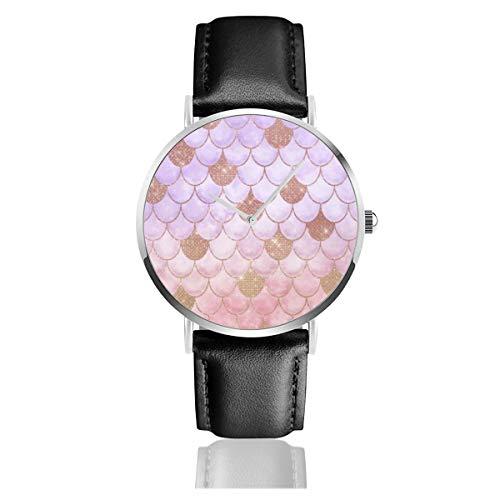 Glam, orologio al quarzo da ragazza, con brillantini, stile classico, casual, alla moda, in acciaio inox, cinturino in pelle