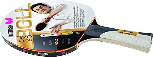 Butterfly 85020 - Racchetta da Ping Pong Timo Boll Gold, Colore: Nero/Oro