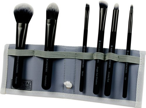 Royal Brush Moda Total Face Cosmetic Brush Set and Case, Black by ROYAL BRUSH