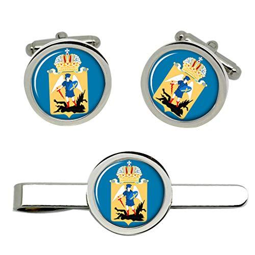 Giftshop UK Arkhangelsk Oblast (Russland) Manschettenknöpfe und Krawatte Clip Set