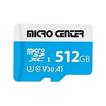 Micro Center Premium 512GB microSDXC Card Nintendo-Switch Compatible Flash Memory Card UHS-I C10 U3 V30 4K UHD Video A1 R/W Speed up to 95/80 MB/s Micro SD Card with Adapter  512GB