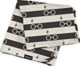 Milk Snob Harry Potter Baby Blanket, Lightning Stripes - Super Soft, Weighted, Dual Layer - Newborn Swaddle, Security Blanket, Nursery Room Toddler Bed Essentials, Premium Rayon Blend, 36x36