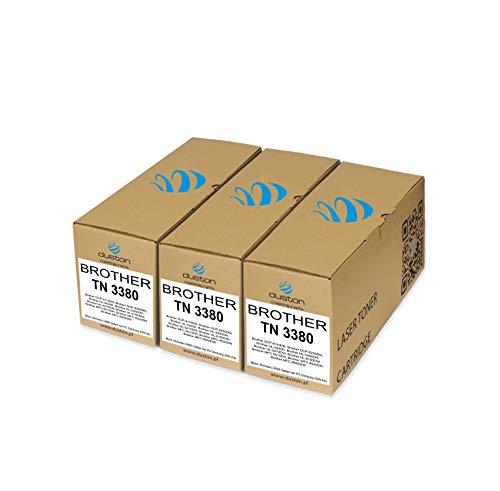 3X TN3380, TN-3380 Schwarz Duston Toner kompatibel zu Brother DCP-8110 DCP-8110DN DCP-8250 DCP-8250DN HL-5440D HL-5450DN HL-5470DW HL-6180 HL-6180DW MFC-8510 MFC-8520 MFC-8950