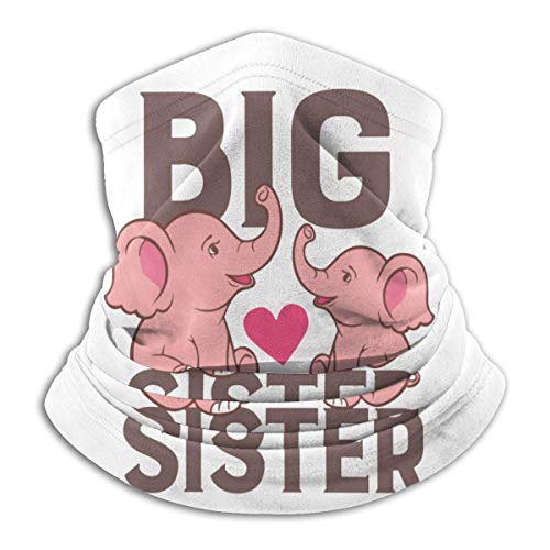 Dydan Tne Elefante Big Sister Unisex Microfibra Cuello Calentador Headwear Cara Bufanda NCK-2000