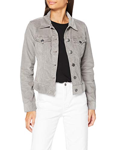 Herrlicher Damen Joplin Cord Stretch Jacke, Grey 70, M