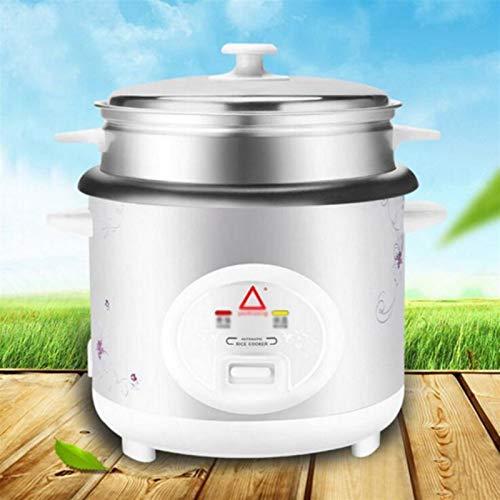 ZGJQ Cocinas de arroz Electric No-Stick Cocina de arroz y Vapor W/Automatic Mantener Warm Hace Sopas, Guisones, Granos, Cereales 1.5L, 2L, 3L, 4L, 5L (Color : White, Size : 5L)
