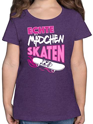 Up to Date Kind - Echte Mädchen skaten - 104 (3/4 Jahre) - Lila Meliert - t-Shirt up-Date Kind mädchen Skate - F131K - Mädchen Kinder T-Shirt