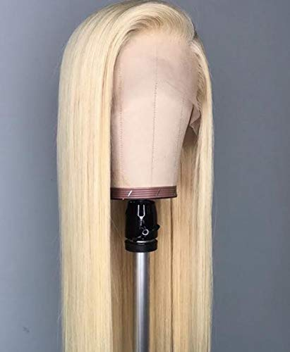 Maxine Hair 13x6 613 Blonde Lace Front Wigs Human Hair With Baby Hair Striaght Glueless Brazilian Human Hair Pre Plucked Hair Line Wig For Black Women(12inch,150% Density)
