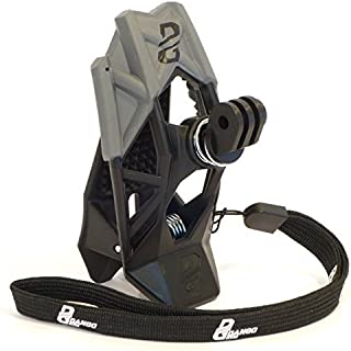 Dango Design Gripper Mount - Universal Clamp Mount for Action Cameras, Use as a Mount on Motocross, Powersports Helmets & More - Stealth Black