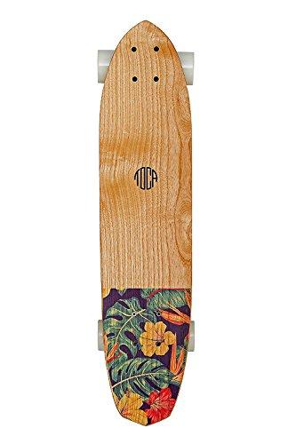 Toca Frescobol toc-r-6001, Skateboard Cruiser Unisex–Erwachsene, Rot Floreal, 72x 16x 10cm