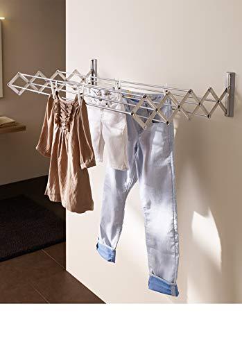 Juwel Ruck Zuck 120 40133 - Tendedero (secador de Pared extraíble, para Interior y Exterior, Capacidad de Carga de 20 kg, Longitud de Secado de 10,3 m, Varillas de Acero revestidas de plástico)