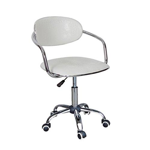 LYJ Computer Hocker drehbar Kassenhocker Sessellift Rollstuhl (Farbe : Weiß)
