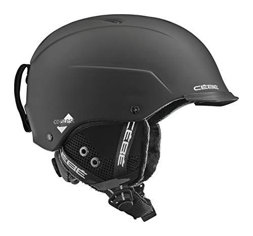 Cébé Unisex's CONTEST VISOR Ski Helmets, Matte Black Lime, Medium
