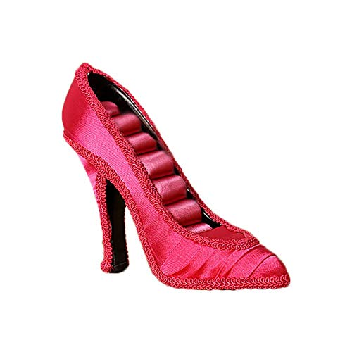 Demarkt Jewellery Stand Ring Holder Shoe Shape Jewellery Holder for Storage Rings Earrings, Rose-red, 15*12*5cm