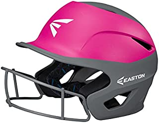 EASTON PROWESS Fastpitch Softball Batting Helmet with Mask | Matte Two-Tone Color | 2020 | Multi-Density Impact Absorption Foam | High Impact Resistant Lightweight Shell |BioDRI Liner | Chin Strap